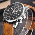 Бренд BENYAR, спортивные мужские часы, Лидирующий бренд, роскошные мужские кожаные водонепроницаемые часы с хронографом, кварцевые военные на...