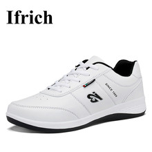 Ifrich 2017 New Men's Running Shoes White Walking Jogging Sneakers Leather Men Athletic Shoes Spring/Autumn Sport Trainers Cheap