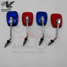 small red blue motorbike rear view mirrors motocross ATV Off-road parts dirt pit bike scooter motorcycle rearview mirror moto
