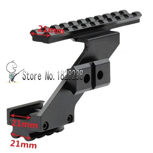 Universal Tactical Pistol Scope Mount Weaver & Picatinny Rail Pistol Rail for adding Scope Sight Flashlight Laser