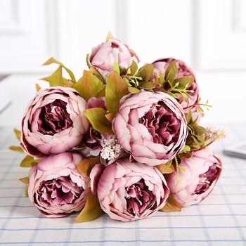 Kunstliche Seide Pfingstrose Strausse 6 Grosse Blumen Fur Hochzeit