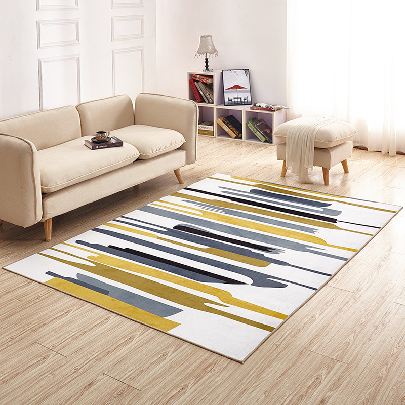 Salon maison tapis antidérapant doux tapis chambre moderne tapis Pad 140cm * 200cm peluche tapis zone tapis pour salon - 2