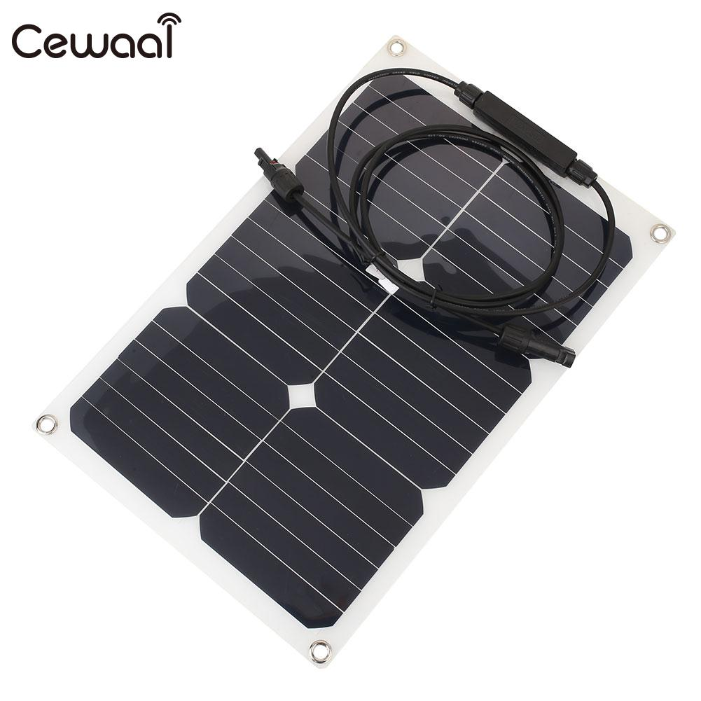 Solar Cells Charging Monocrystalline Silicon Solar Panel Light Weight Module Photovoltaic Panels Battery Charger 1m 15m photovoltaic solar cells back sheet tpe tedlar film for diy solar panel encapsulation