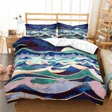 3b440809b1 3D Biancheria Da Letto di stampa set Mountain alba Tramonto sopra il mare  frinds' regalo foglio di biancheria da letto set copri.
