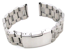 Stainless steel five beads solid metal watch band edge press buckle substitute for various smart bands Straight