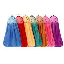 1 шт., полотенце для рук, плюшевая Подвеска для детской кухни, ванной, толстая мягкая ткань, полотенце для протирания, хлопок, не-масляная палочка, для мытья посуды, быстросохнущая