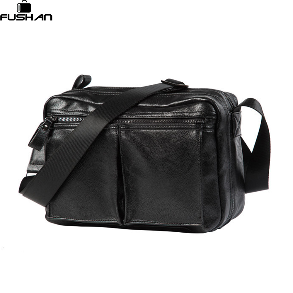 FUSHAN New Arrival Fashion Business Leather Men Messenger Bags Promotional Small Crossbody Shoulder Bag Casual Man Bag карандаш и самоделкин в деревне козявкино cdmp3