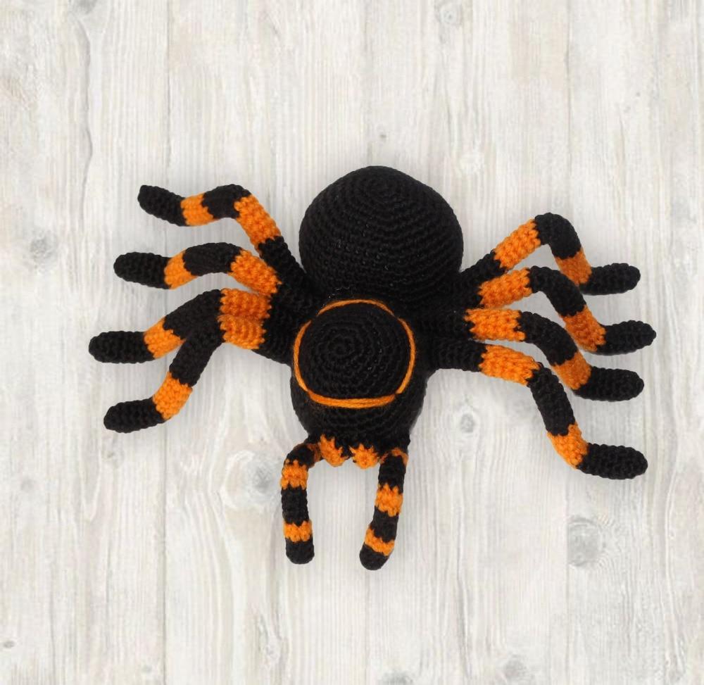 Crochet Toys  Amigurumi  Handmade    Rattle  Spider  Model   Number  JSZ0019