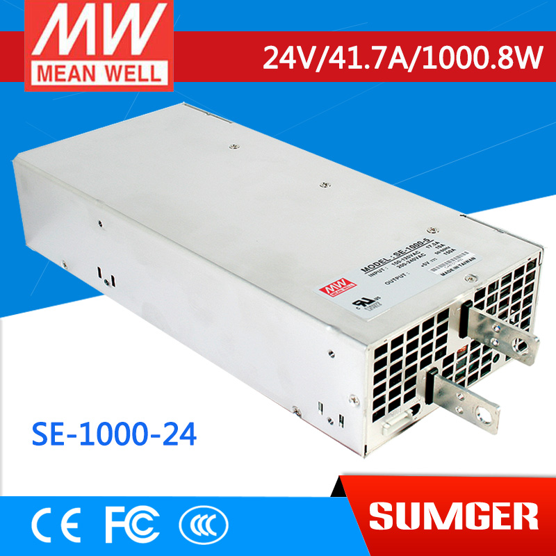 все цены на  [Only on 11.11] MEAN WELL original SE-1000-24 24V 41.7A meanwell SE-1000 24V 1000.8W Single Output Power Supply  онлайн