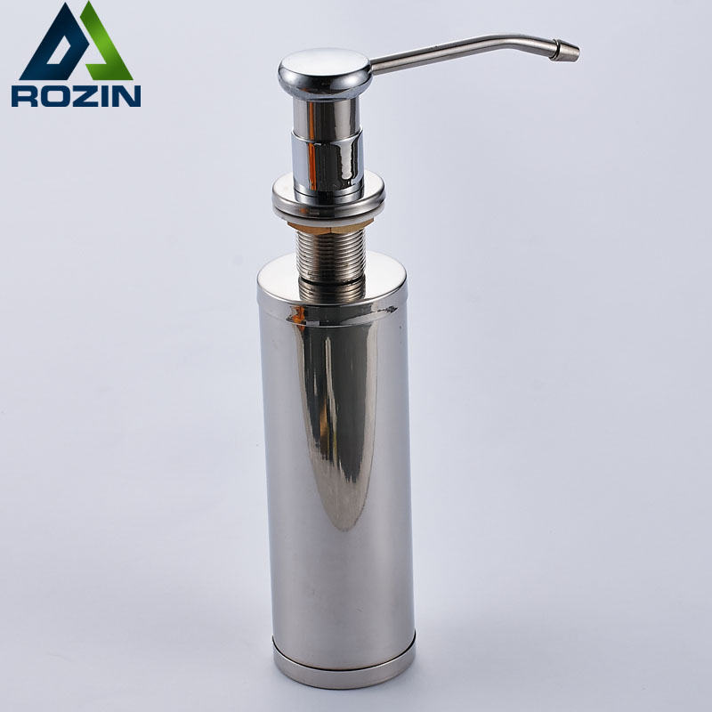 Cheaper Stainless Steel Liquid Soap Dispenser Kitchen Sink Soap Box Free Shipping Chrome Soap Bottle