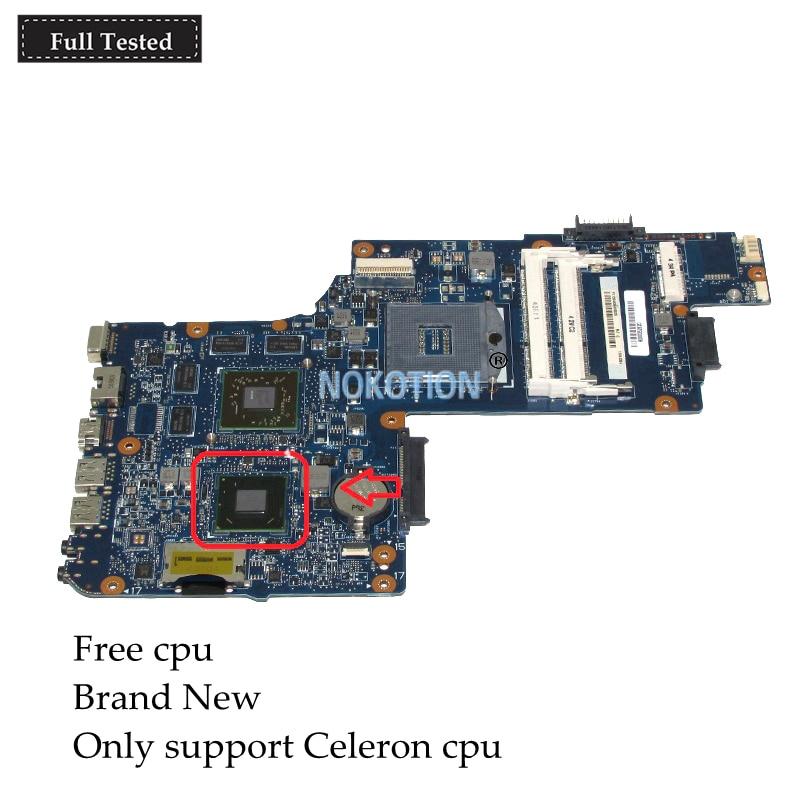 NOKOTION nuevo H000052620 para toshiba satellite C850 L850 c855 motherboard portátil HM70 SJTNV Radeon HD 7610 M gráficos