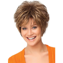 10″ Women Short Curly Blonde Wigs Heat Resistant Synthetic Hair Cheap Cosplay Synthetic Natural Wigs African American Wigs