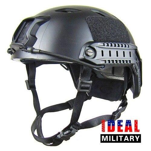 Охота безопасности Мужская Fast CQB пейнтбол защиты снаряжение для головы для Airsoft БЫСТРО Base Jump Стиль шлем черный с ночь