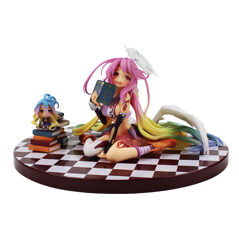 Free Shipping No Game No Life 1/8 scale Siro sexy Girl Shiro Jibril cute dolls Garage Kit Brinquedos Anime Action Figure Toys hot game anime insane black rock shooter 1 8 scale huge 40cm action figure