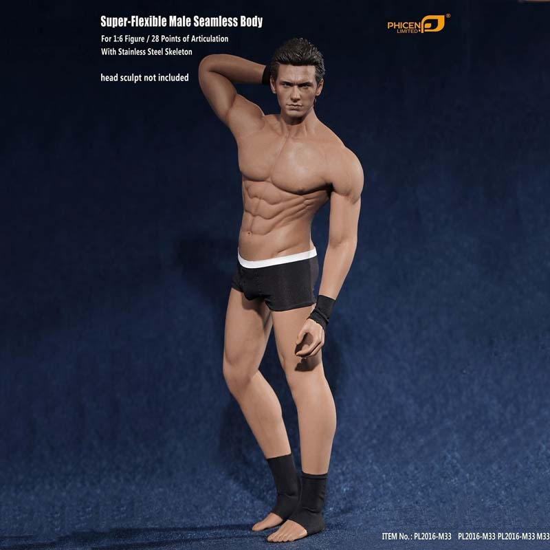 1/6 Scale Male Action Figure Model Toys Super Flexible Seamless Muscle Body PL2016-M33 for Collections 1 6 scale nude male body figure muscle man soldier model toys for 12 action figure doll accessories