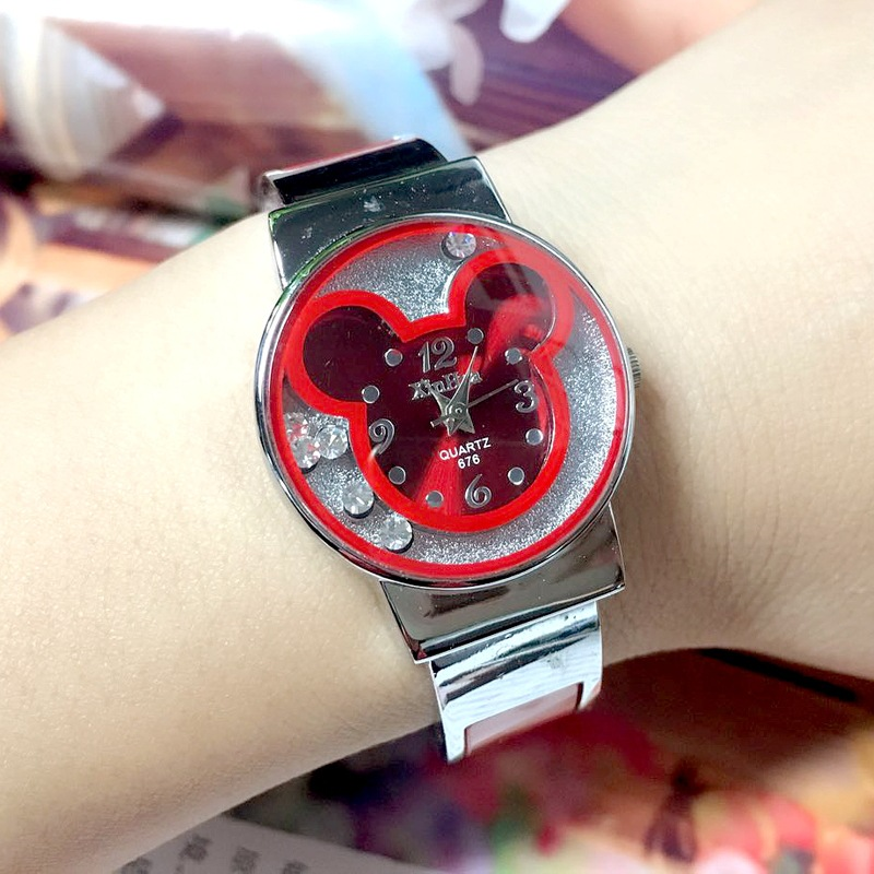 High-end Fashion  The Mouse Kids Watches  The Flow  Mis  Steel Band Children Watches  Trend Of The Bracelet