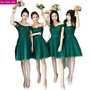 Image 5 - KSL133 Free shipping Emerald New new long  bridesmaid dresses Wedding party dress