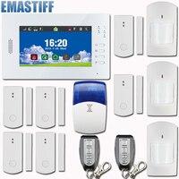 Venta caliente 7 pulgadas de Pantalla Táctil GSM Sistema de Alarma de Seguridad inicio de Alarma De Seguridad Con 868 MHZ