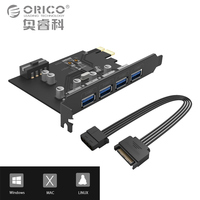ORICO 4 Port USB3 0 PCI E Riser Host Controller Card 3 0 Adapter To USB