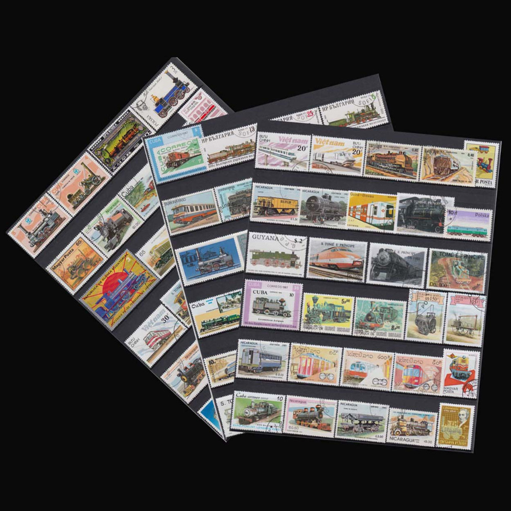 Kinds Of Trains , 100 Pieces \ lot wholesale Have Used No Repeat From All World For Collecting Postage Stamps used 100