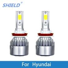 2 предмета авто фары 12V 6000K супер яркие автомобильные лампы для hyundai XG350/XG300/Веракрус/Veloster/Tucson/Tiburon/Sonata/Santa Fe