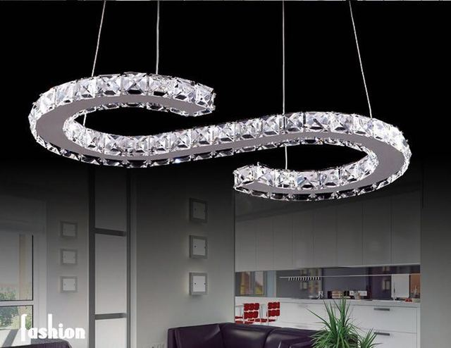 Modern Led Chandelier Home Decoration S Shaped Re Crystal Lighting Ceiling Chandeliers Lights Lamparas