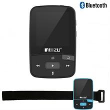 Original RUIZU X50 Mini Sport Clip Bluetooth reproductor de mp3 8 GB reproductor de música Soporte de Tarjeta TF, Radio FM, grabación, e-libro, Cronómetro