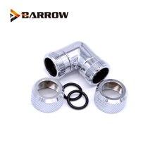 цена на BARROW Black Silver G1/4'' thread Dual 90 Degree Rotary Fitting Adapter Rotating 90 Angle Adaptors use for OD12mm/14MM Hard Tube