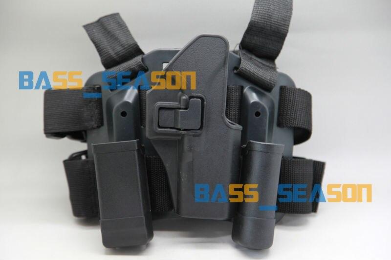 Νέο 4in1 τακτικής πτώσης πόδι μηρός θήκη Rig 2 Πάγκοι Πλατφόρμα για οικογένεια πυροβόλων όπλων Glock Δωρεάν αποστολή