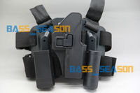 New 4in1 Tactical Drop Leg Thigh Rig Holster 2 Pouches Platform for Glock gun family Free Shipping