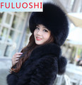 The new 2015 autumn and winter fur hat fox fur earmuffs princess hat millinery