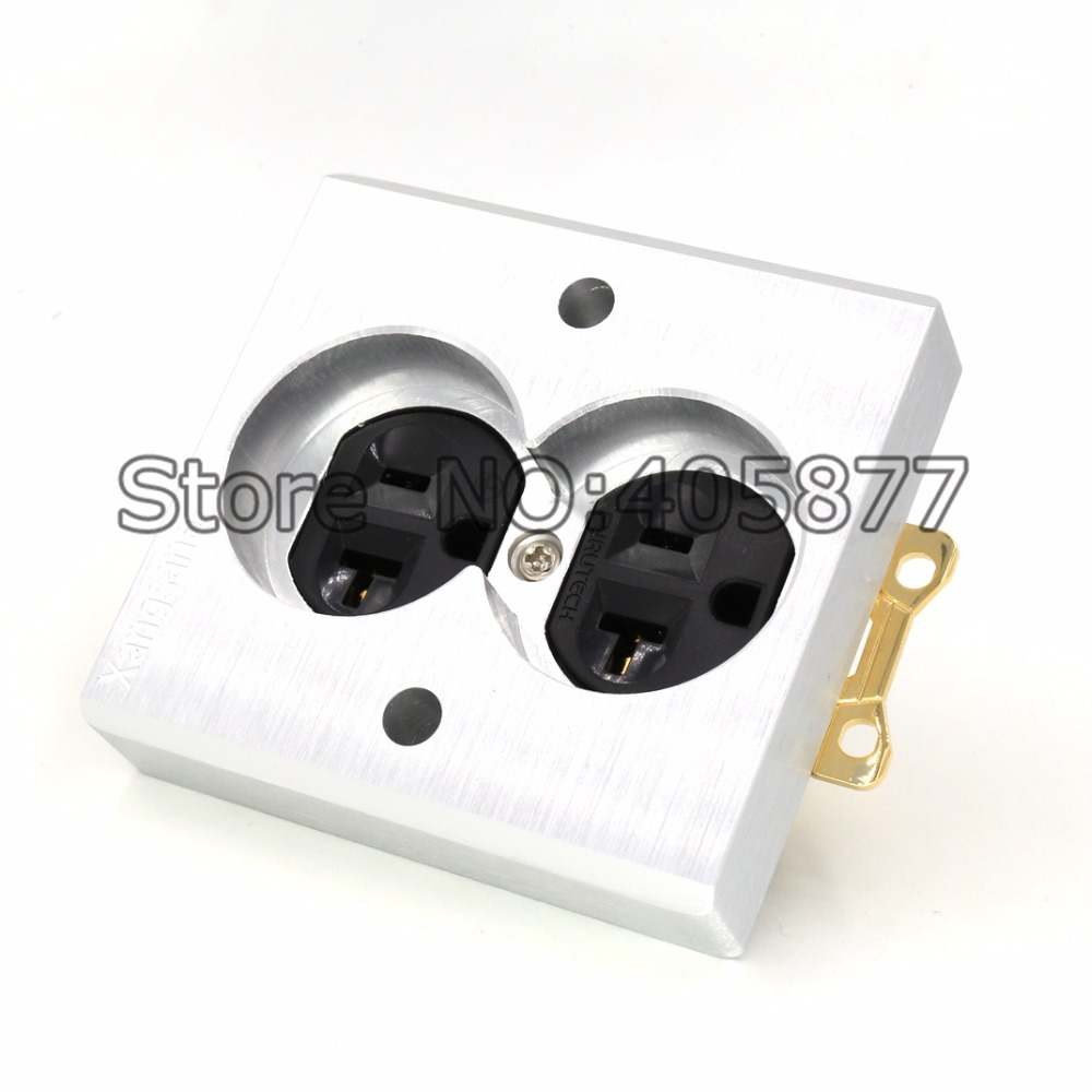 Viborg 2pcs High Quality Gold Plated Power US AC Power Receptacle Wall Outlet Copper Socket high performance gold plated viborg 805 tools rca socket fitting tool
