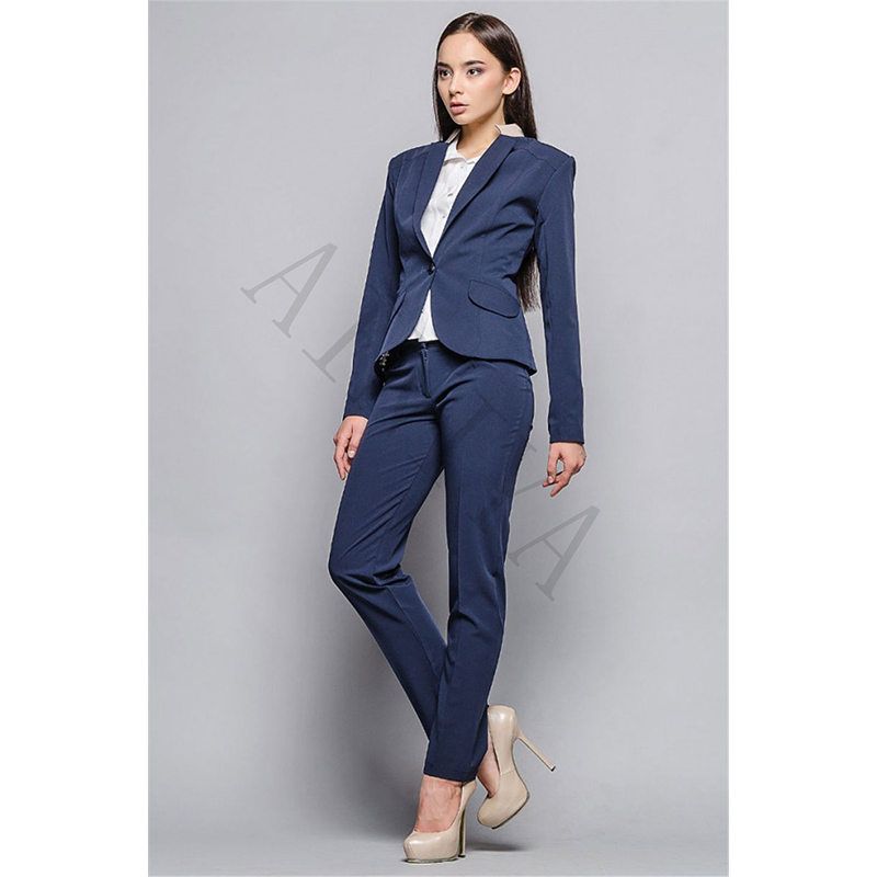 Aliexpress.com : Buy Autumn Women's Pants Suit Navy Blue Two Piece ...