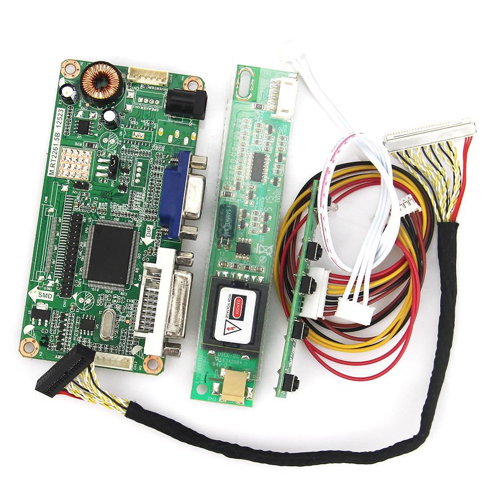 VGA+DVI M.RT2261 M.RT2281 LCD/LED Controller Driver Board For QD15TL04 QD15TL02 1280x800 LVDS Monitor Reuse Laptop цена