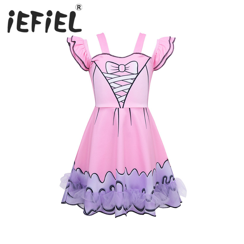 Kids Dress Up Party Dresses For Girls Princess Prom Clothes Girls Cartoon Christmas Halloween Party Ballet Cosplay Costumes