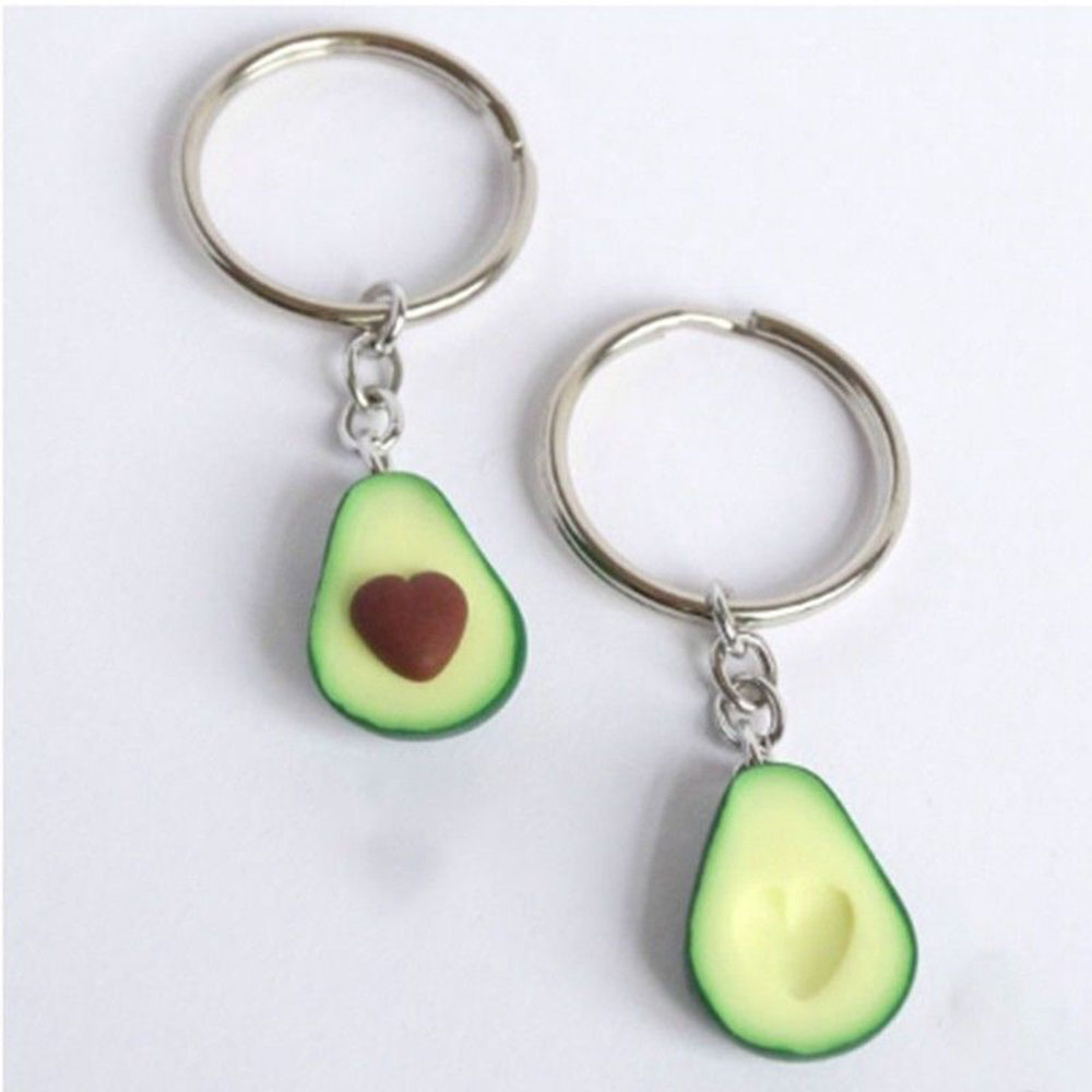 Avocado Keyrings - Best Friend Keychains - BFF Keychain - Food Jewellery Gift