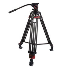 Aluminum Alloy 609A professional camera tripod with fluid head 15KG Payload DSLR tripod for stable photography shooting