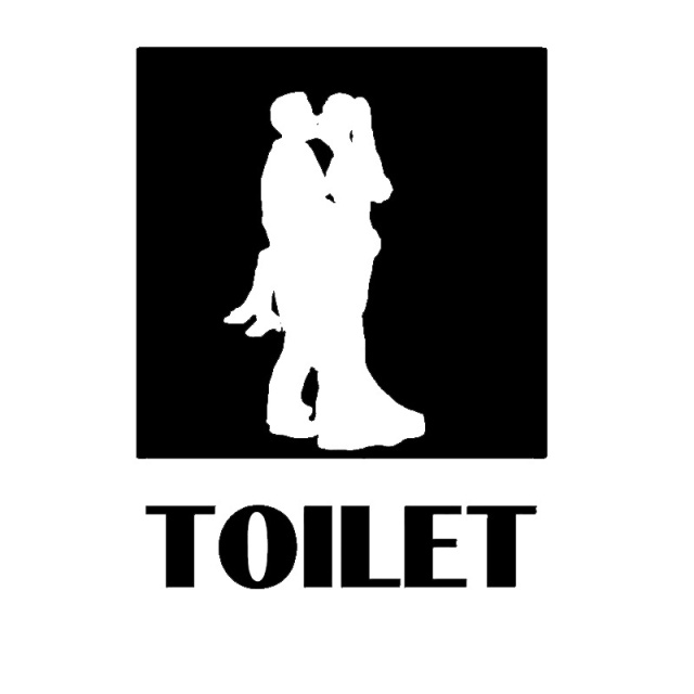 Aliexpress Com Buy High Quality Toilet Logo Romantic Man Young