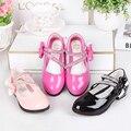 Los nuevos niños cuero dancing shoes primavera bowknot niños individual shoes 2016 muchachas de la princesa impermeable shoes