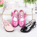 The new children dancing  leather shoes spring  bowknot kids single shoes 2016 princess girls waterproof shoes