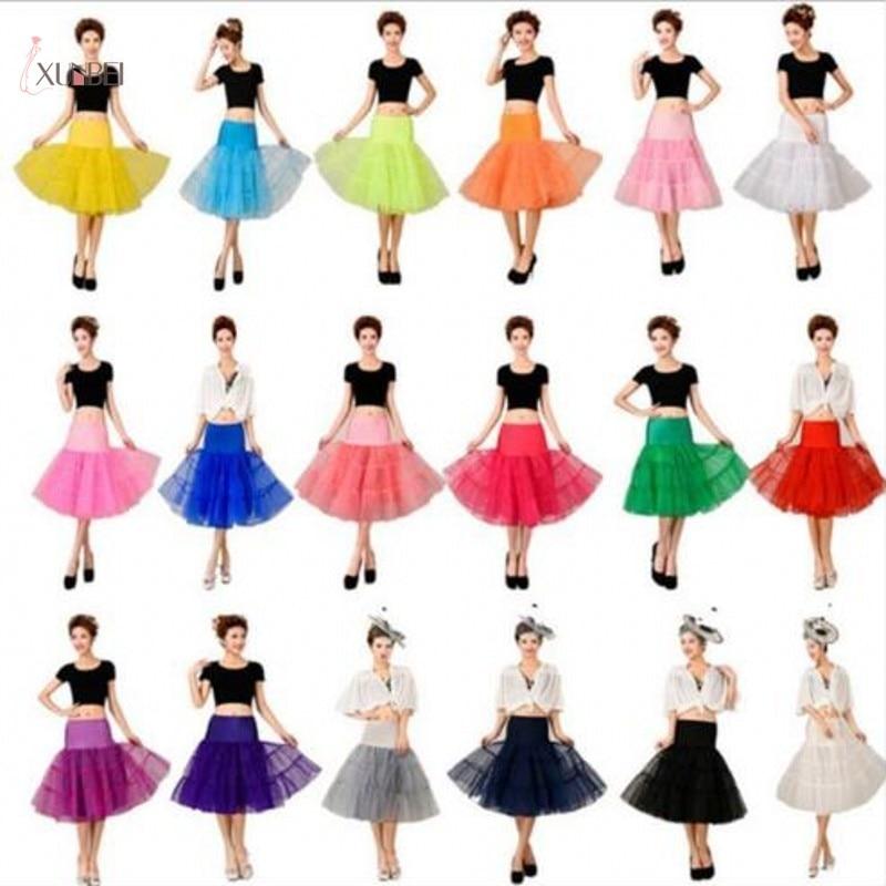 Retro Underskirt Woman Wedding Bridal Petticoat Crinoline Short Tulle Skirt Rockabilly Tutu Wedding Accessories Jupon Mariage