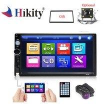 Hikity 2din автомобильный Радио плеер Зеркало Ссылка Авторадио общие модели автомобилей 7 дюймов сенсорный экран Bluetooth Авто Стерео камера заднего вида