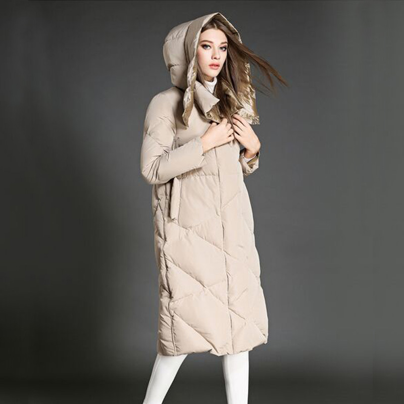 High Quality Down Parka 2016 New Fashion Winter Jacket Women White