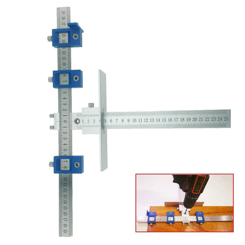 Alloy Detachable Hole Punch Jig Tool Drill Guide Sleeve Cabinet Hardware Wood Hand Tool Sets CLH@8