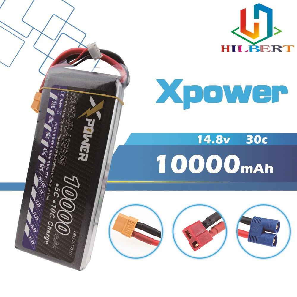 Haute qualité 14.8V 4s 10000mAh 30C max 35C Xpower XT60 T EC5 XT90 plug Lipo batterie pour rc drone hélicoptère pièces d'avion-in Pièces et accessoires from Jeux et loisirs    1