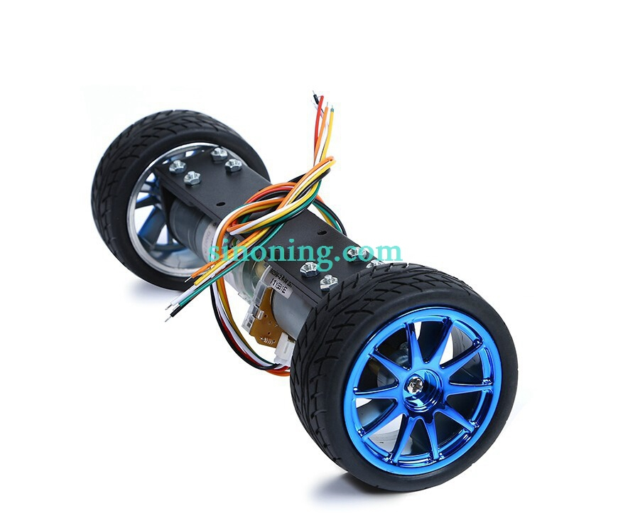 Self-balancing two-wheeled motor car 2WD metal car smart car chassis balance