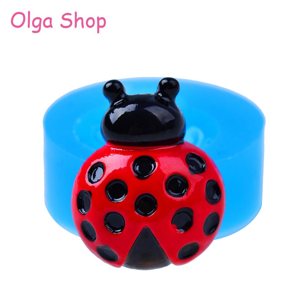 Dyl559 23mm Ladybird Silicone Mold Insect Mold Cake Topper