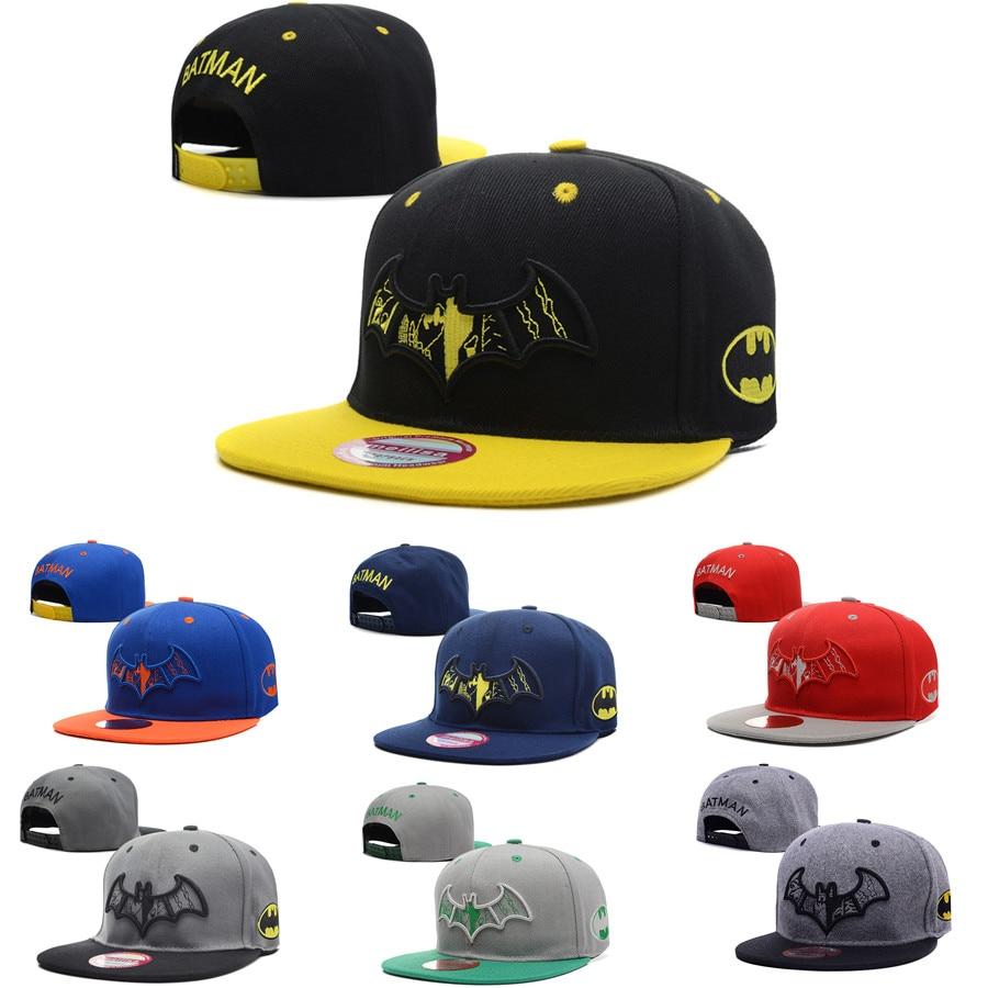 Superhero DC Comic batman logo Baseball Cap Snapback Trucker hat cotton Cap  Adjustable Hip Hop Hat embroidery cap christmas gift 4e2789dfc03