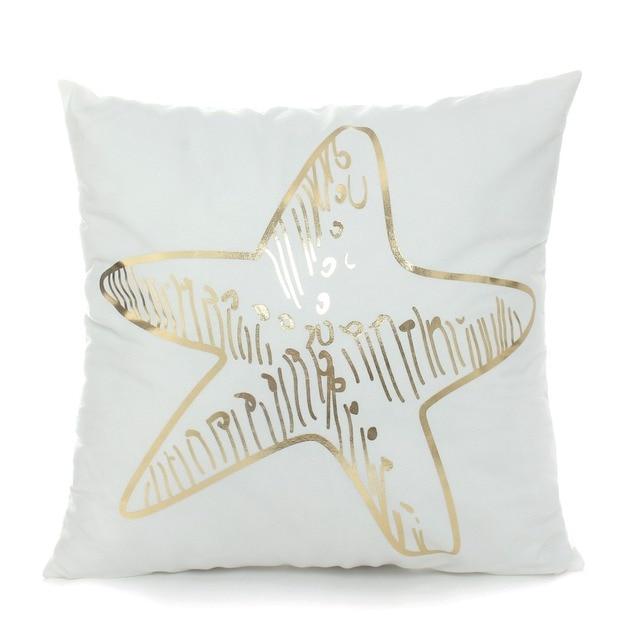 Golden Sea Print Cushion Cover 4