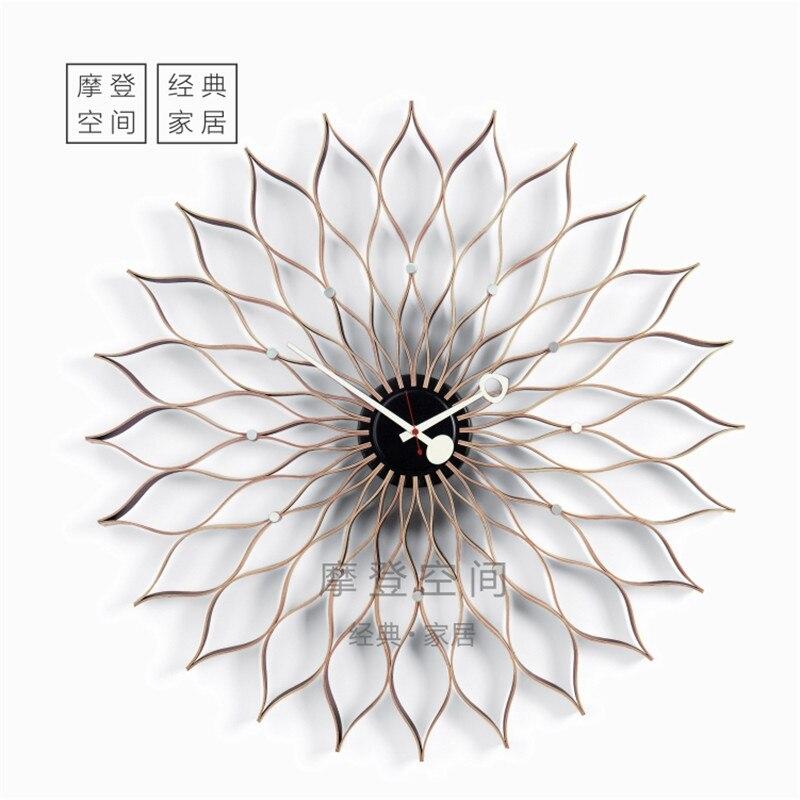 2018New Arrivo ShenZhen Produttori di professionisti Stile Nordico Moderno di Modo di Girasole orologio da parete/orologio in legno DIA75cm